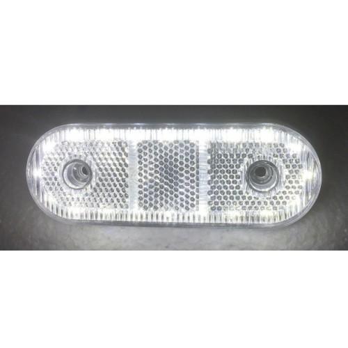 Φως πλευρικής σήμανσης με λεπτό σχεδιασμό 20 SMD LED 24V Λευκό