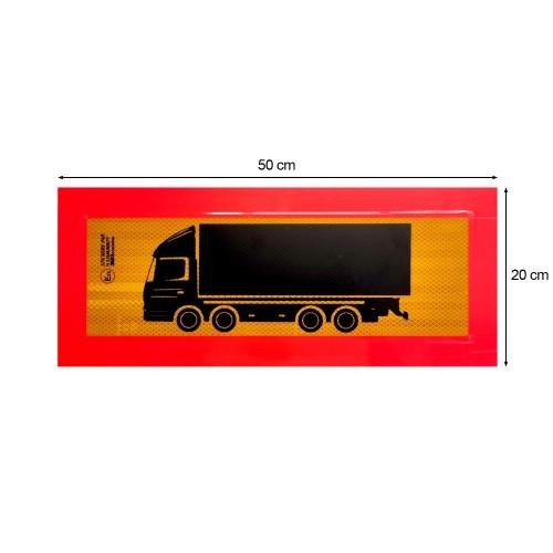 Ανακλαστική Πινακίδα Τετραξονικού 3M Αλουμινίου - 50 × 20 cm