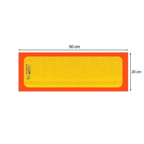 Ανακλαστική Πινακίδα 3M Φορτηγού - 50 x 20 cm