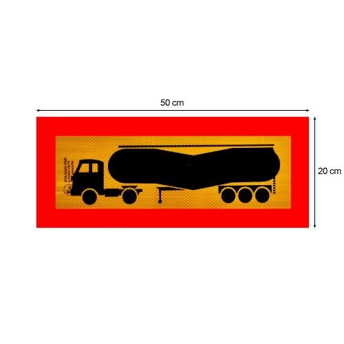 Ανακλαστική Πινακίδα Επικαθήμενο (Αγελάδα) 3M Αλουμινίου - 50 × 20 cm
