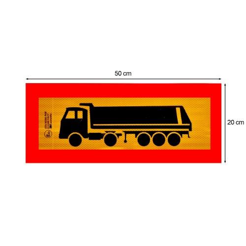 Ανακλαστική Πινακίδα Επικαθήμενο (Καρότσα - Μπαζάδικο) 3M Αλουμινίου - 50 × 20 cm