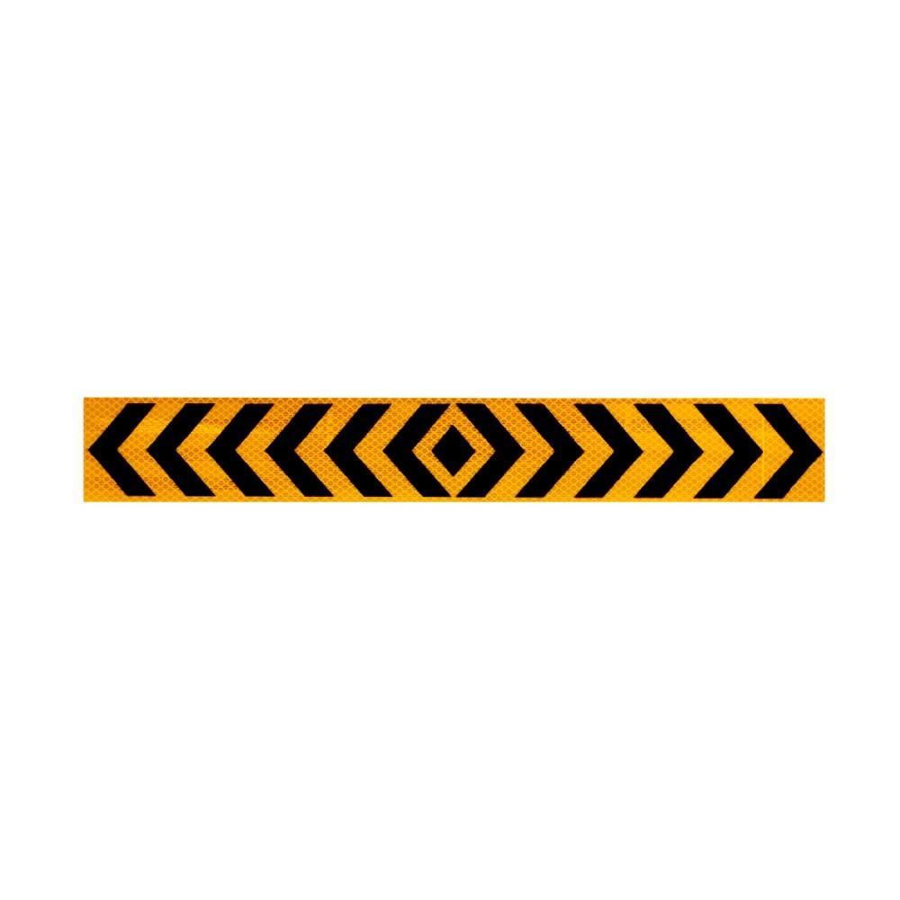 Αυτοκόλλητη Ανακλαστική Ταινία Βέλη 3M - 50 x 7 cm - Κίτρινο