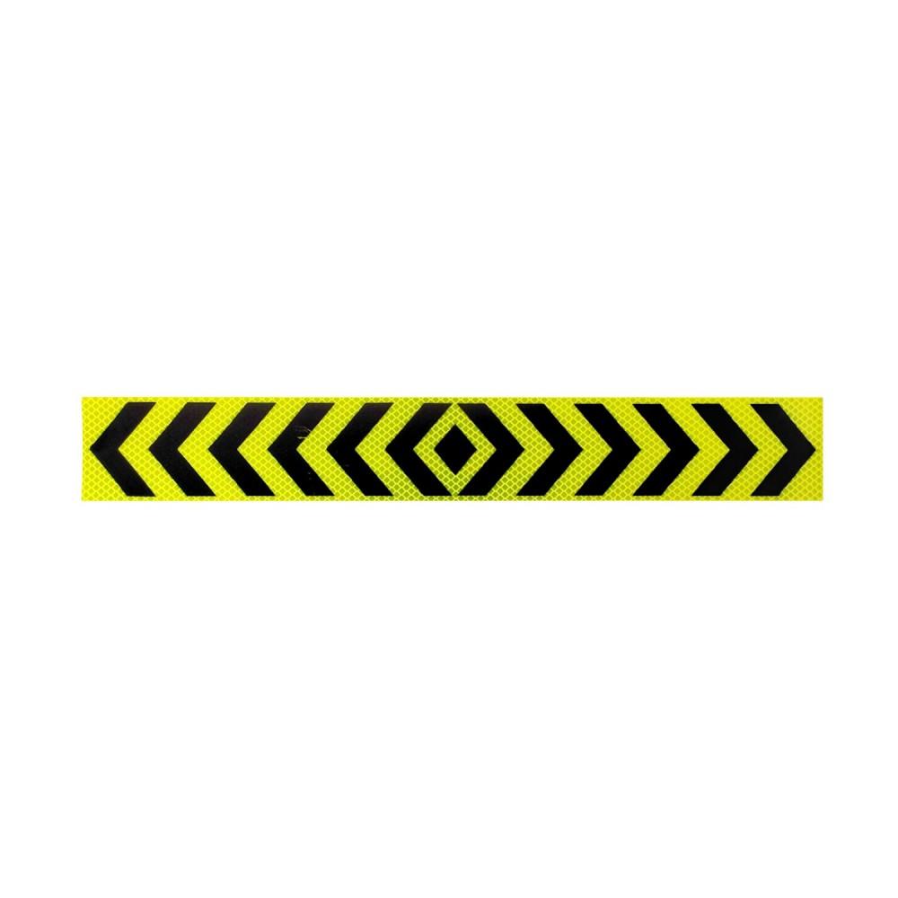 Αυτοκόλλητη Ανακλαστική Ταινία Βέλη 3M - 50 x 7 cm - Κίτρινο Φωσφοριζέ