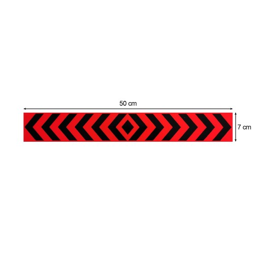 Αυτοκόλλητη Ανακλαστική Ταινία Βέλη 3M - 50 x 7 cm - Κόκκινο