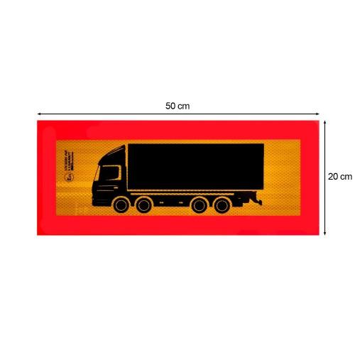 Ανακλαστική Πινακίδα Τετραξονικού Αυτοκόλλητη 3M - 50 x 20 cm