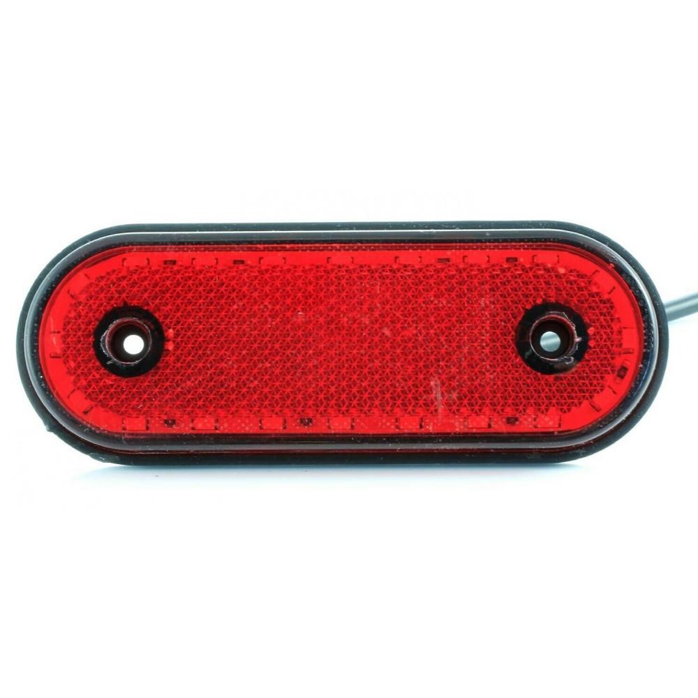 Φως πλευρικής σήμανσης με λεπτό σχεδιασμό 20 SMD LED 24V Κόκκινο