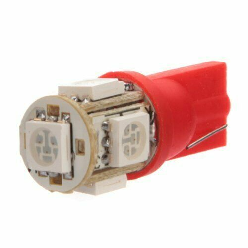 Λαμπτήρας LED T10 5050 5 SMD 12/24V Κόκκινο LED KIT, LED DRL ,LED Λαμπτήρες, Φανοί Τράκτορα
