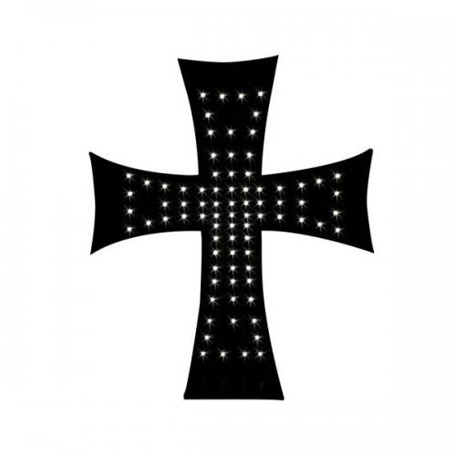 Σταυρός με 81 λευκά  LED Σχάρες Προστασίας, Διακοσμητικά Εξωτερικά